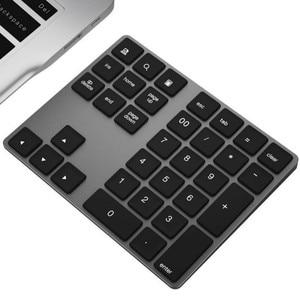 34 Keys Bluetooth Wireless Numeric Keypad Mini Numpad with More Function Keys Digital Keyboard For PC Macbook Number Pad Mini(China)