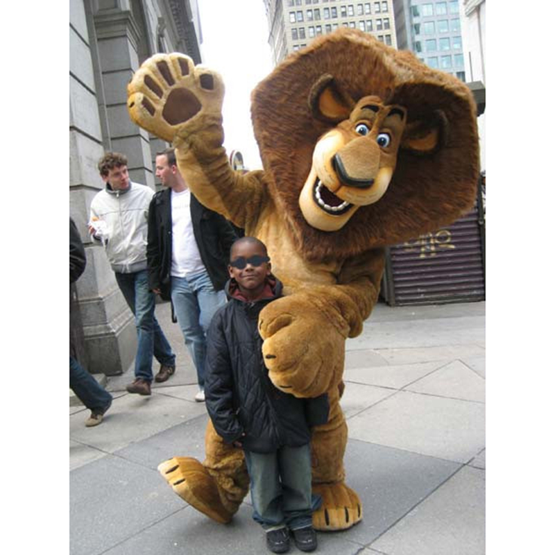 AlexThe Lion Madagascar Mascot Costume Cartoon Character Halloween Christmas Birthday Props Costumes