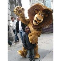 AlexThe Lion Madagascar Mascot Costume Cartoon Character Halloween Christmas Birthday Props Costumes