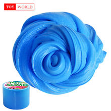 100ml Solid color plasticine Fluffy Foam colored Clay make your slime supplies smell sweet Antistress puzzle toys Children Gifts(China)