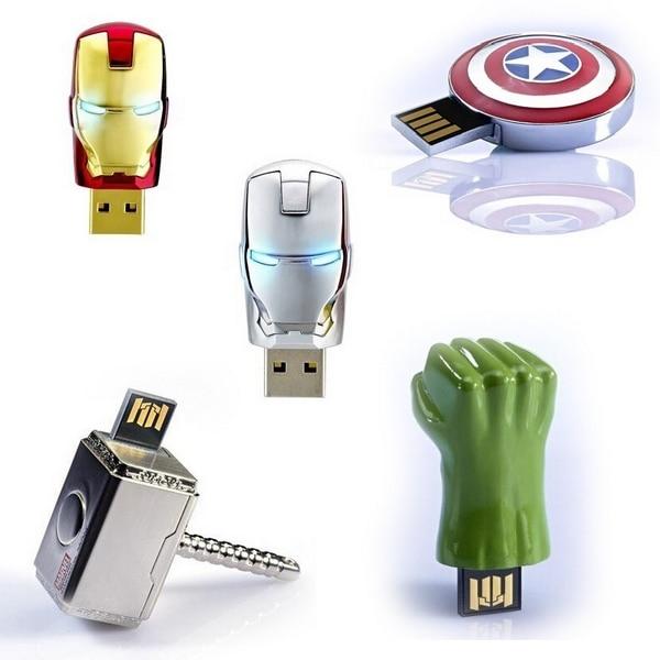 Avengers Pen Drive 8 GB Iron Man USB Flash Drive 64 GB 128 GB 512 GB 1 TB 2 TB Captain America Memory Stick Pendrive Hulk Thor Gift