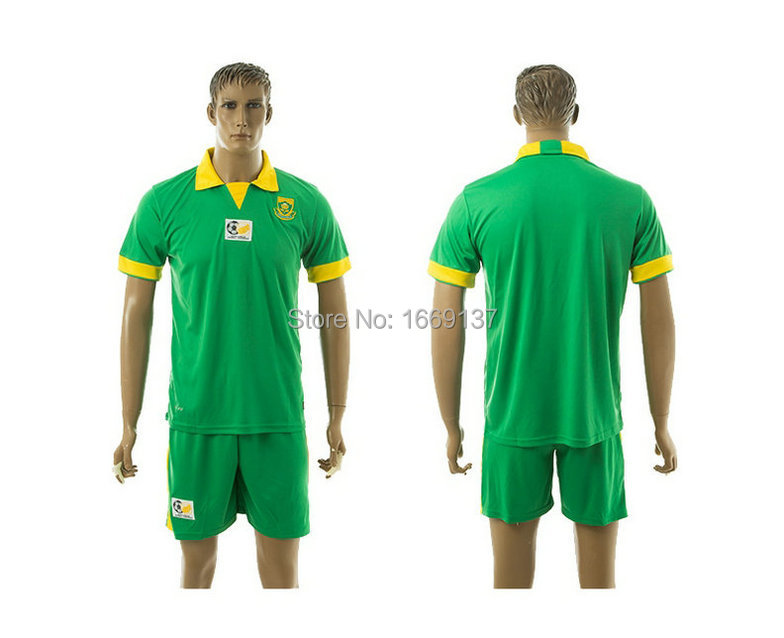 Size S XL 2015 New Style South Africa Blank Yellow Green ...  South Africa Soccer Jersey