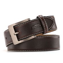Casual Black Leather Belt