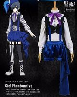 2017 new Kuroshitsuji Black Butler Ciel Phantomhive Book of Circus Cosplay Fancy Costume