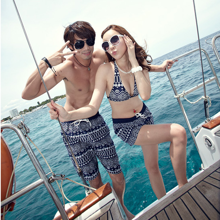 New Couple Men   Board     Shorts   Swimming Trunks Boxer Joggers Running Sweat Swimsuit Beach Surfing Boardshort Sport Fitness Plus