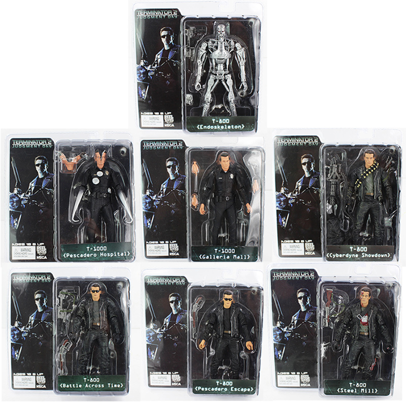NECA The Terminator T-800 T-1000 Endoskeleton PVC Action Figure Collectible Model Toy