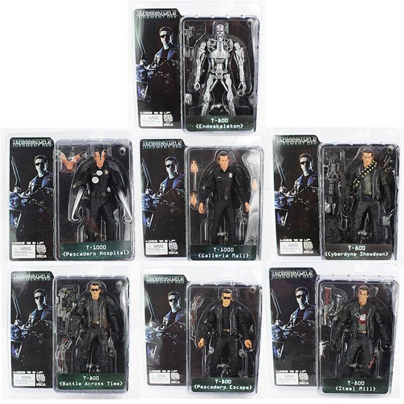 NECA el Terminator T-800 T-1000 endoesqueleto PVC figura de acción coleccionable modelo de juguete 2019 Ninja Mirage Ultimate dragón Complex Compatible legoing nonjagoes 70679 bloques de construcción juguetes acción figuras de juguetes para regalar