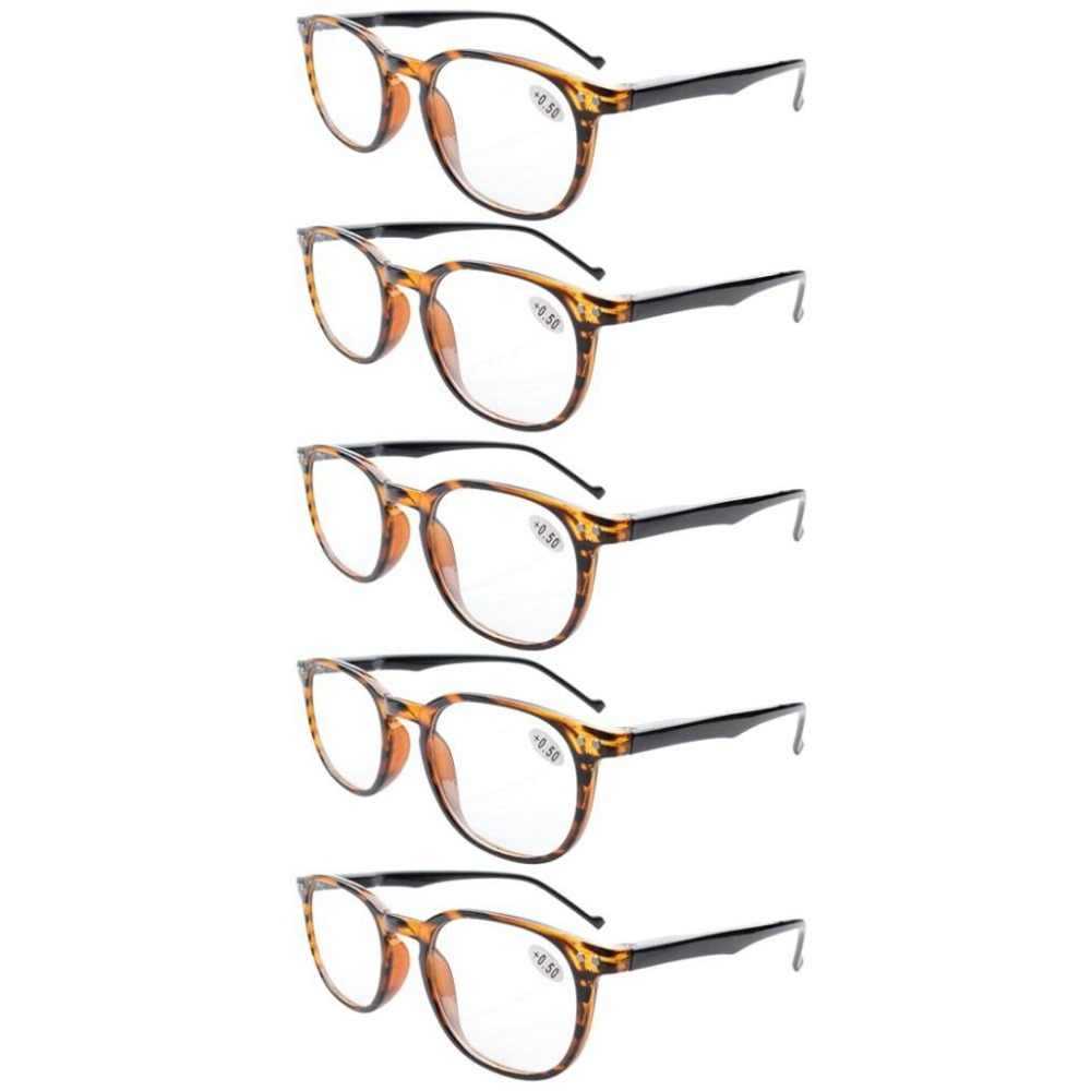 6e9d213fc5a ... R065 Eyekepper 5-Pack Spring Hinges 80 s Reading Glasses Includes Sun  Readers +0.5