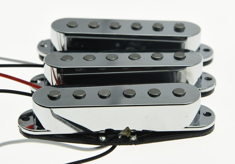 KAISH 3x N/M/B Chrome Alnico 5 Single Coil Pickups High Output Sound Strat SSS Pickup belcat bass pickup 5 string humbucker double coil pickup guitar parts accessories black