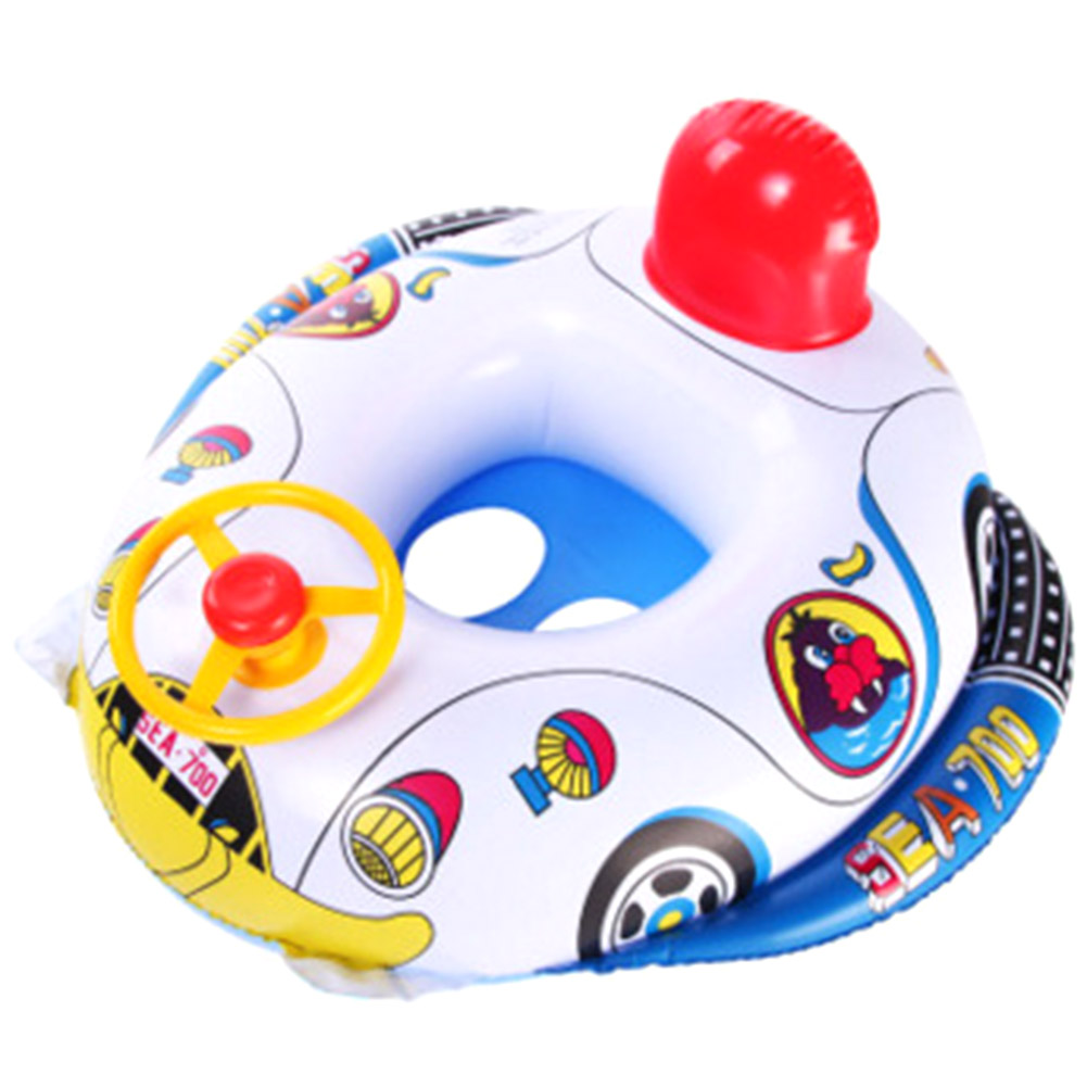 New Sale Children Inflatables Swim Rings Kids Inflatable Summer Swimming Ring With Steering Wheel Special Design