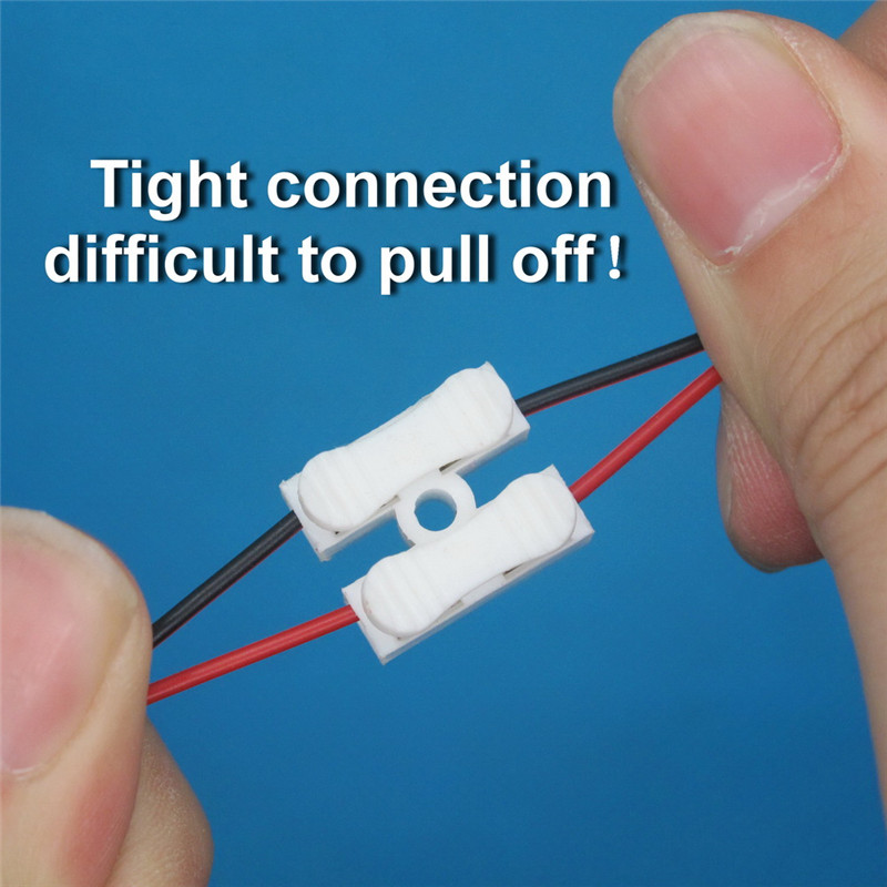 100X 2p Spring Connector wire with no welding no screws Quick Connector cable clamp Terminal Block 2 Way Easy Fit for led strip in Terminals from Home Improvement