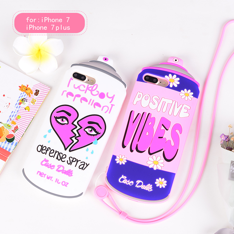 for iphone7 7 plus 3d cartoon case spray water bottles soft silicone case fo. Black Bedroom Furniture Sets. Home Design Ideas
