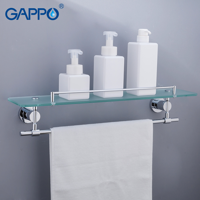 GAPPO Towel rack wall mounted towel bars towel rack bathroom towel holders bath storage shelf bathroom accessories gappo towel bars bathroom towel holder hanger bath accessories stainless steel towel rack towel ring robe hooks bathroom