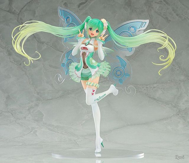 Japanese Anime Hatsune Miku Action Figure Racing Miku Toy Dolls Pvc Butterfly Miku Model Gift no retail box (Chinese Version)