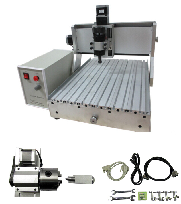 LYCNC3040Z D500W 4axis Ball screw 1605 Pitch 4mm for CNC 3D Laser Engraving Machine 600X510X480mm
