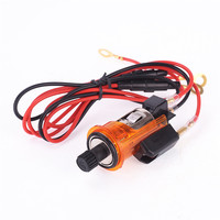 IZTOSSIlluminated Auto 12V Car Orange Cigarette Lighter Power Adapter Socket Plug Outlet Can Smoke For PEUGEOT