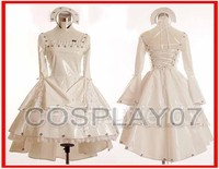 New Arrival Gothic Lolita Chobits Chii White Cosplay Costume Dress