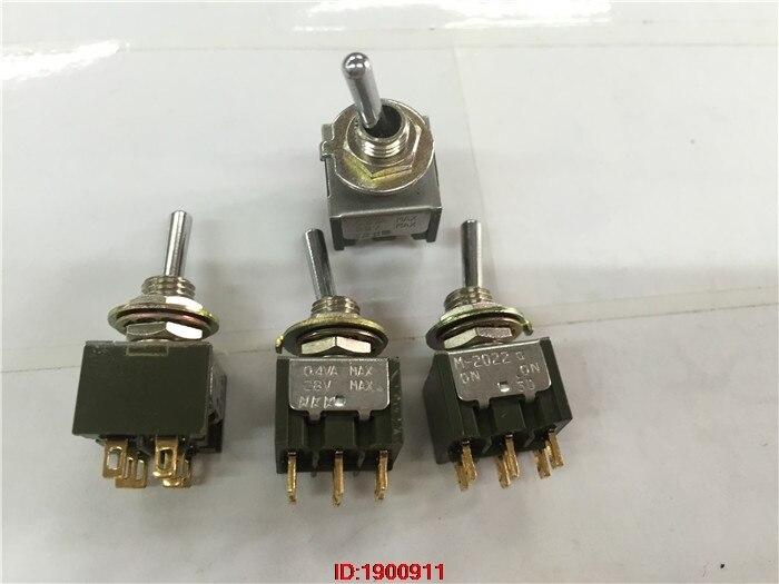 1pcs/lot NKK M-2022G 0N-0N 0.4VA 28V Toggle switch Rocker switch 6 feet gold plated feet1pcs/lot NKK M-2022G 0N-0N 0.4VA 28V Toggle switch Rocker switch 6 feet gold plated feet