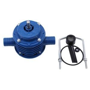 Image 2 - Bomba centrífuga autocebante azul de CC bomba centrífuga autocebante pequeña bomba de agua de taladro eléctrico manual de bombeo