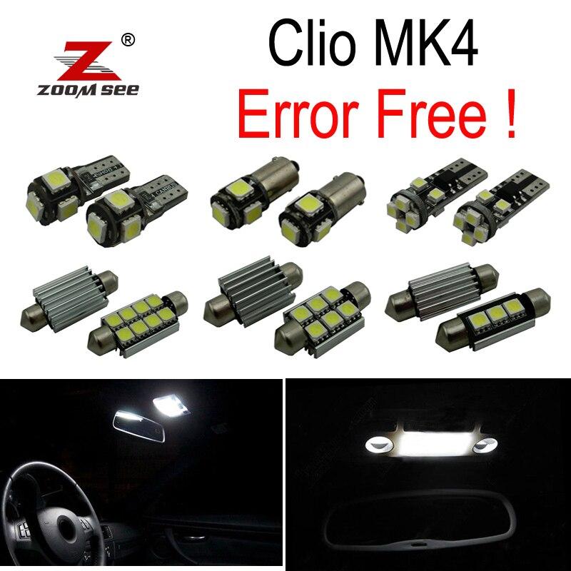 7pc x Error Free For 2013-2017 Renault Clio 4 IV MK4 Hatchback Grandtour Estate LED Bulb Interior Reading Trunk Light Kit