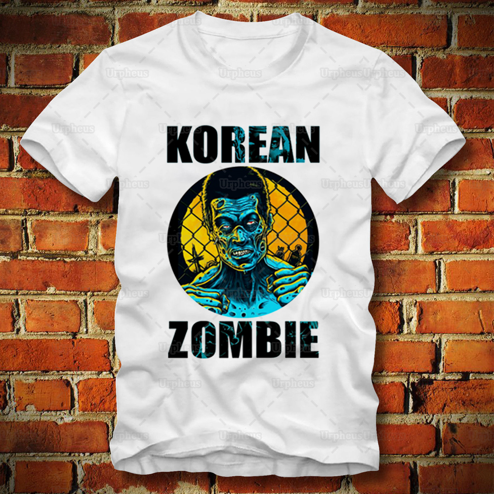 New Arrival The Korean Zombie Tshirt Fighting Mens Hip Hop Shirt