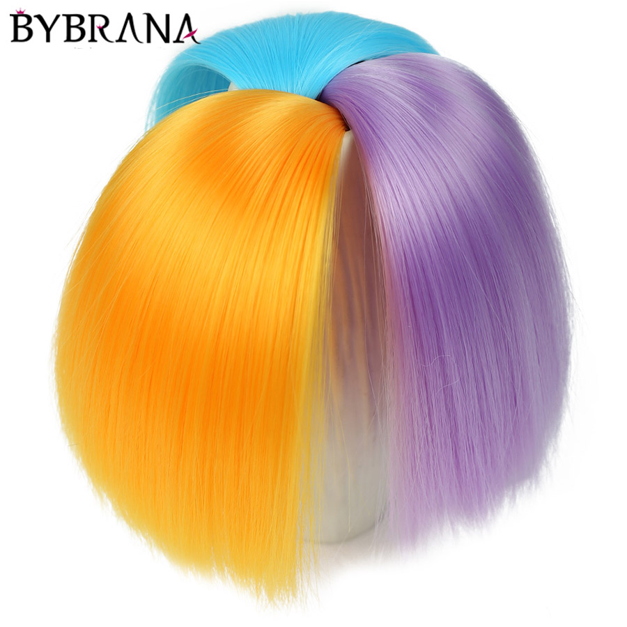 Bybrana 25cm*100cm And 15*100cm Long Straight High Temperature Fiber BJD SD Wigs DIY Hair For Dolls Free Free Shipping