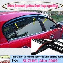 Бесплатная доставка автомобилей стайлинг крышка детектор пластиковые Ветрового Окна Козырек Дождь/Вс Гвардии Vent panel 4 шт. для Suzuki альто 2009
