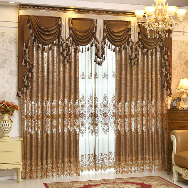 2016 embroidery living room Curtains and Valances blackout drapes ...