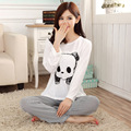 2016 Autumn Women Pajamas Set Long Sleeve Cartoon Pyjamas Sets Women Pijamas Casual Mujer Sleepwear Home Wear Women Suits M-XL