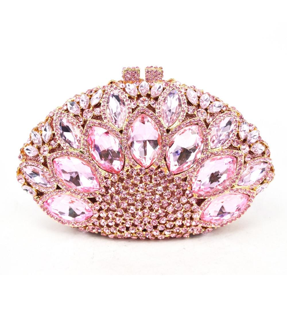 Marca de moda de Lujo Cristal de Diamante Bolsa de Embrague Noche Bolsa de Color