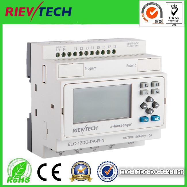 Useful Ethernet Plc,ideal Solution For Remote Control& Monitoring &alarming Applications built-in Ethernet Capability Elc-12dc-da-r-n Industrial Computer & Accessories