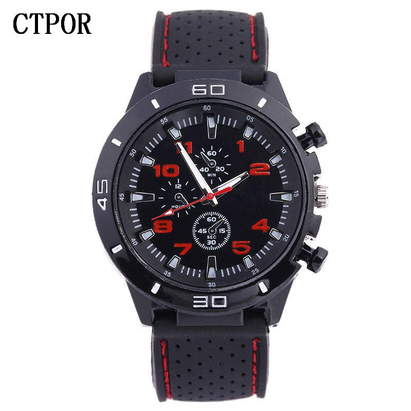 9-18 Years Old Sports Children's Watch Military Sports Car Style Man Watches Silicone Wristwatch Child Student Clock Kids Boy WA