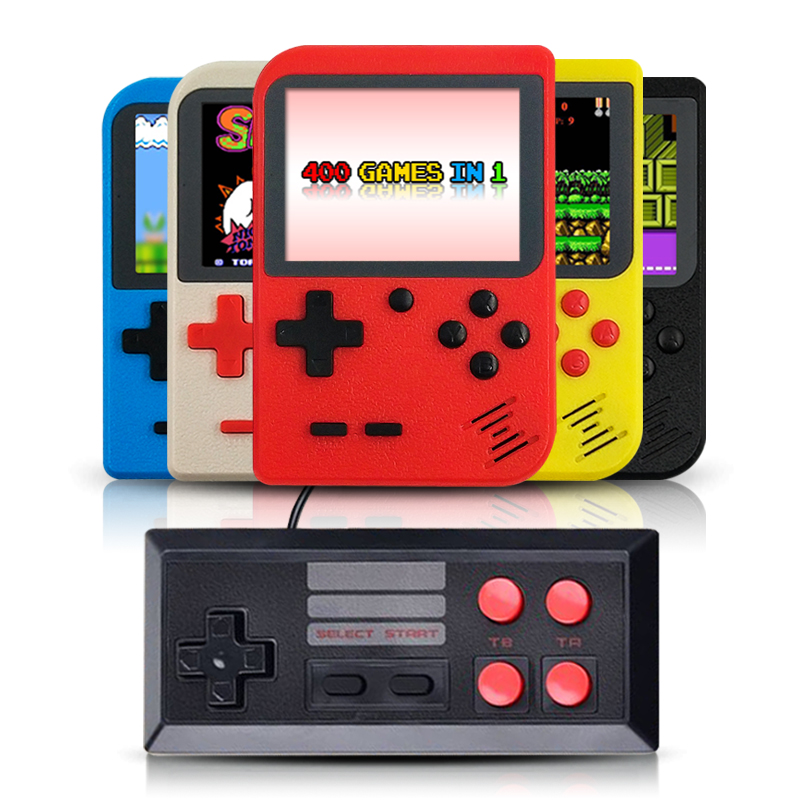 for gameboy portable handheld console built in 400 retro games support 2 players TV console-in Handheld Game Players from Consumer Electronics