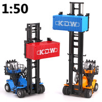 High Simulation Alloy Engineering Vehicle 1 50 Scale Alloy Empty Container Stacker Model High Quality Collection
