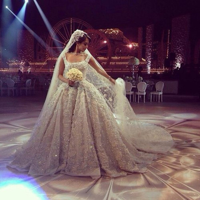Amazing Lace Royal Train Wedding Dress 2016 Vintage