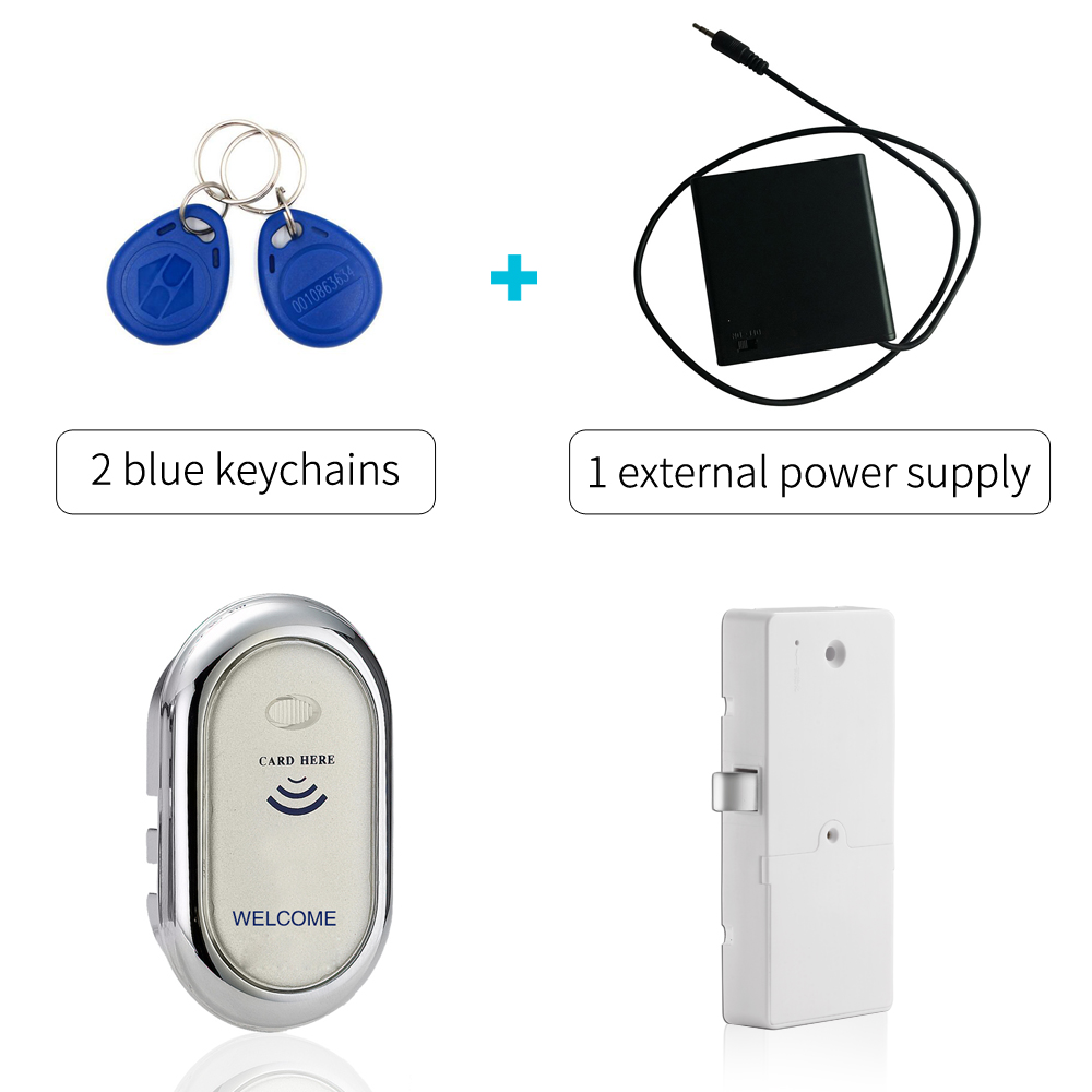 Furniture Electronic RFID cabinet Lock Keyless Digital RFID Door Lock In zinc alloy with 1 external power supply digital electric best rfid hotel electronic door lock for flat apartment