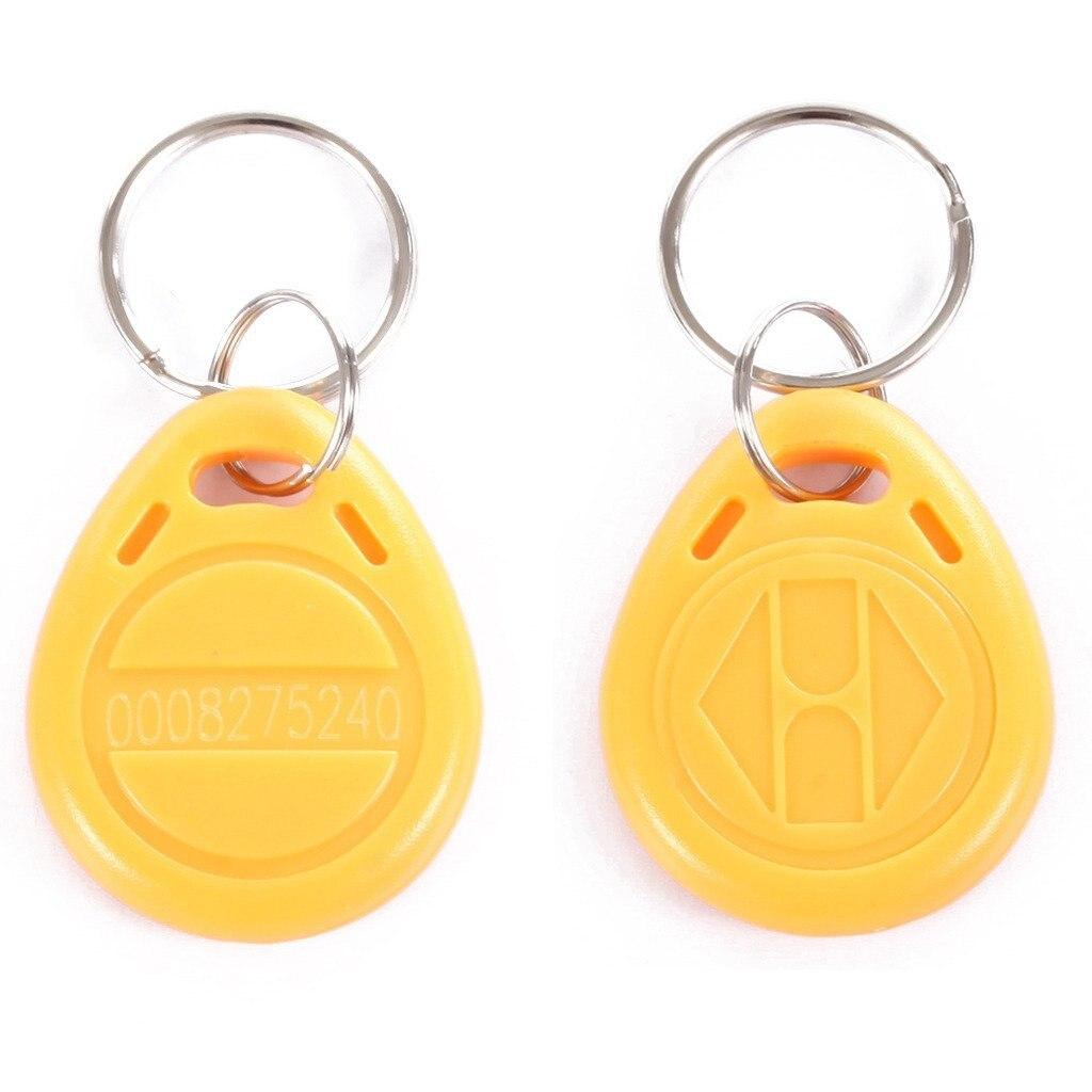 RFID EM4100 EM4102 125KHz RFID EM-ID Card Tag Token Key Chain Keyfob Read Only Yellow Pack of 100pcs 100 pcs rfid id card 125khz proximity key fobs chain token keyfob keytag chain black color
