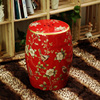 Fashion Ceramic French Dressing Stool Fashion Bird And Flower Home Decoration Wooden Bench Seat Marriage