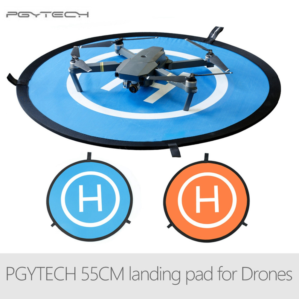 PGYTECH 55CM Fast-fold landing pad Spark helipad RC Drone Gimbal Quadcopter parts Accessories for DJI Phantom Mavic Spark easttowest portable fast fold 75cm drone landing pad for dji mavic pro spark mavic air phantom 2 3 4 drone quadcopter