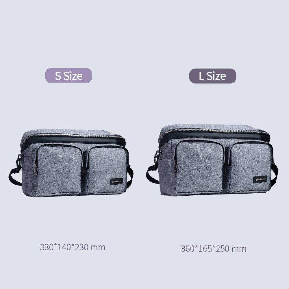 SUNVENO sac à couches pour bébé sac à couches organisateur de poussette sac de bébé maman voyage suspendu landau Buggy chariot bouteille sac - 4