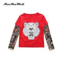 NNW Kids Baby Boys Coat Splice Tattoo Long Sleeve T Shirt Tops Boys Cotton Clothes 3PC