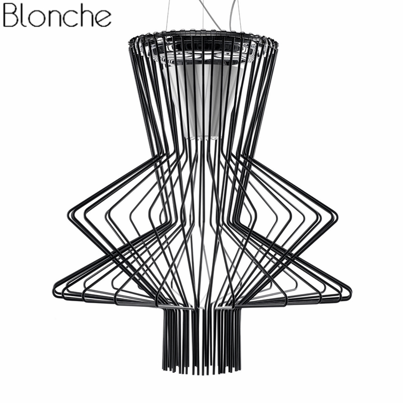 Modern Foscarini Allegro Ritmico Suspension Lamp Pendant Lights Led Cage Hanging Lamp Industrial Luminaire Home Decor Fixtures modern foscarini spokes 1 2 pendant lights led hanging lamp industrial cage suspension home decor living room lighting fixtures