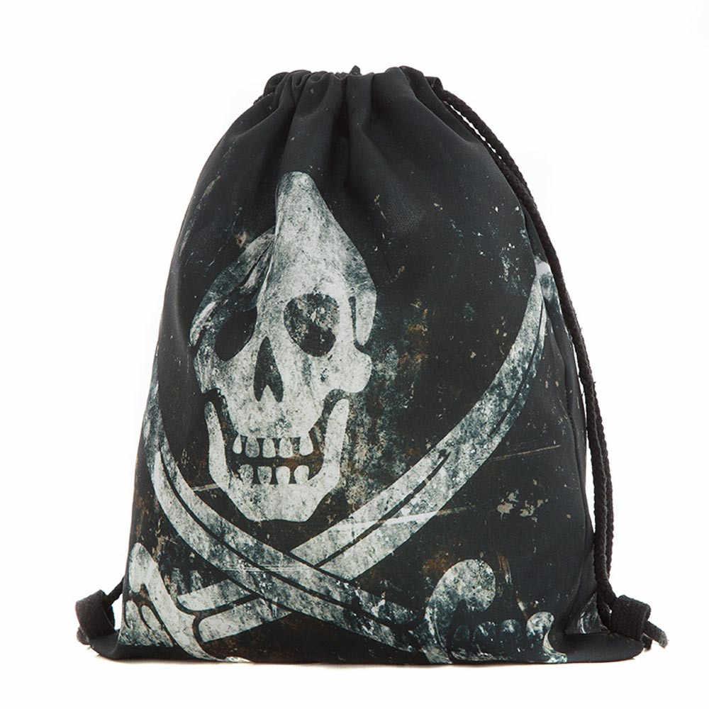 ... Unisex Drawstring bag Halloween Skull Backpacks 3D Printing Bags  Drawstring Pouch Draw String Bags # ...