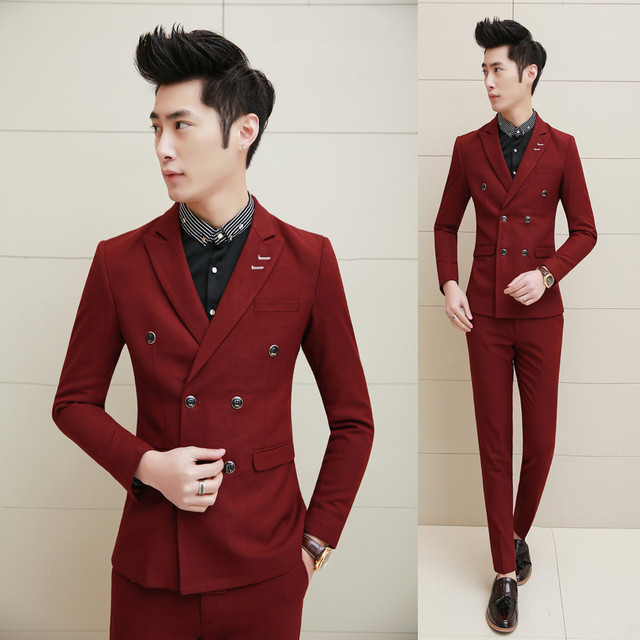 2016 new arrival wedding dress, fashion terno masculino slim men suit, three-piece suit Groom Dresses jacket+pants+waistcoat