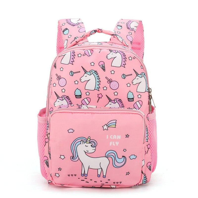Novo bonito dos desenhos animados crianças sacos de escola para meninas meninos mochilas do jardim de infância unicórnio crianças mochila infantil