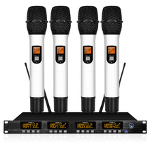 Wireless Microphone System UHF Karaoke System Four Handheld or Waist Pack Stage Family Reunion все цены