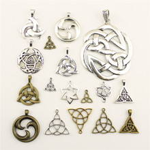 Charm Women Backless Dress Triangle Symbol Amulet Supplies For Jewelry Materials Hand Made Charms(China)
