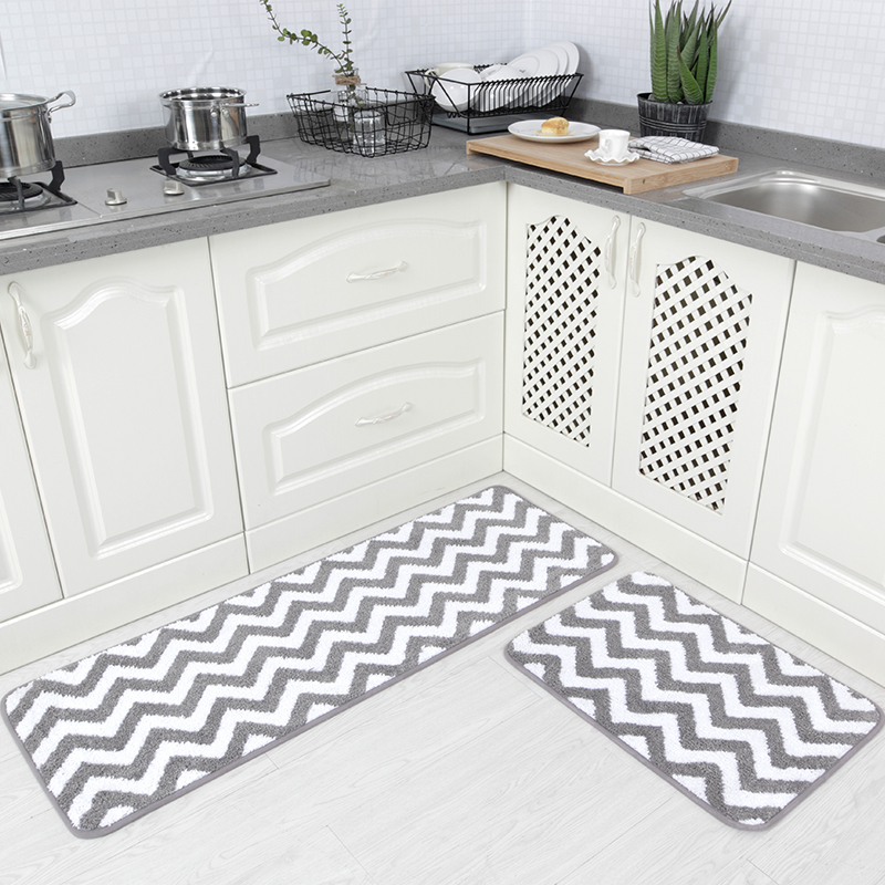 Chevron Kitchen Rug: Carvapet 2 Pieces Microfiber Chevron Non Slip Soft Kitchen