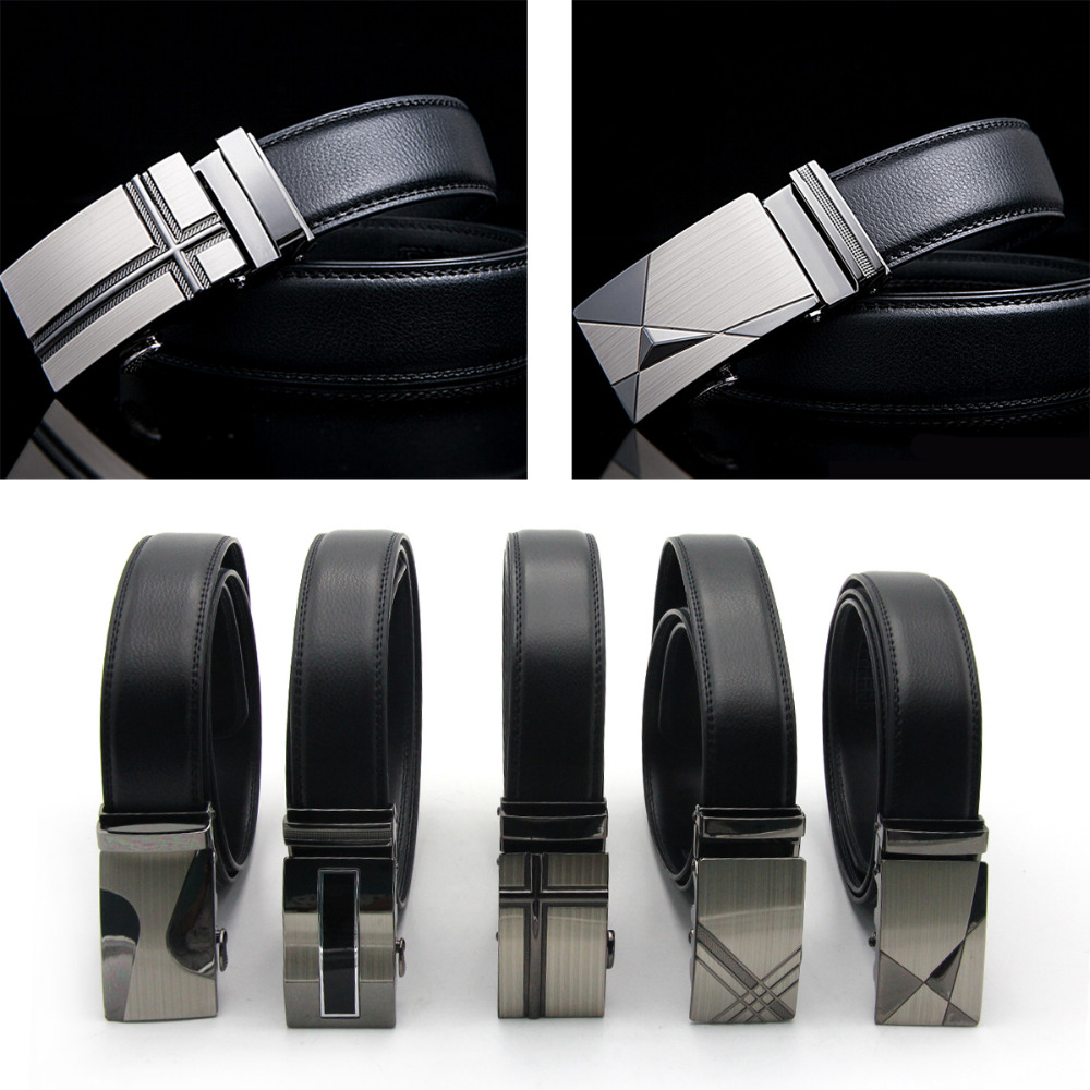 ᐊHommes ceinture en cuir boucle de ceinture automatique ceinture de ... 10fd0a3458c