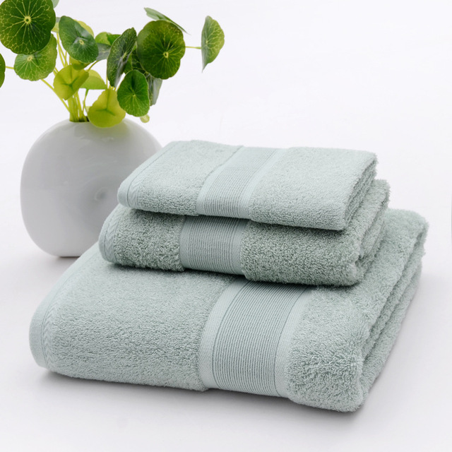 LYN&GY New Luxury Smooth Antibacterial Bamboo Bath Towel Set Solid Towels bathroom set Face Washcloths maquiagens handkerchief